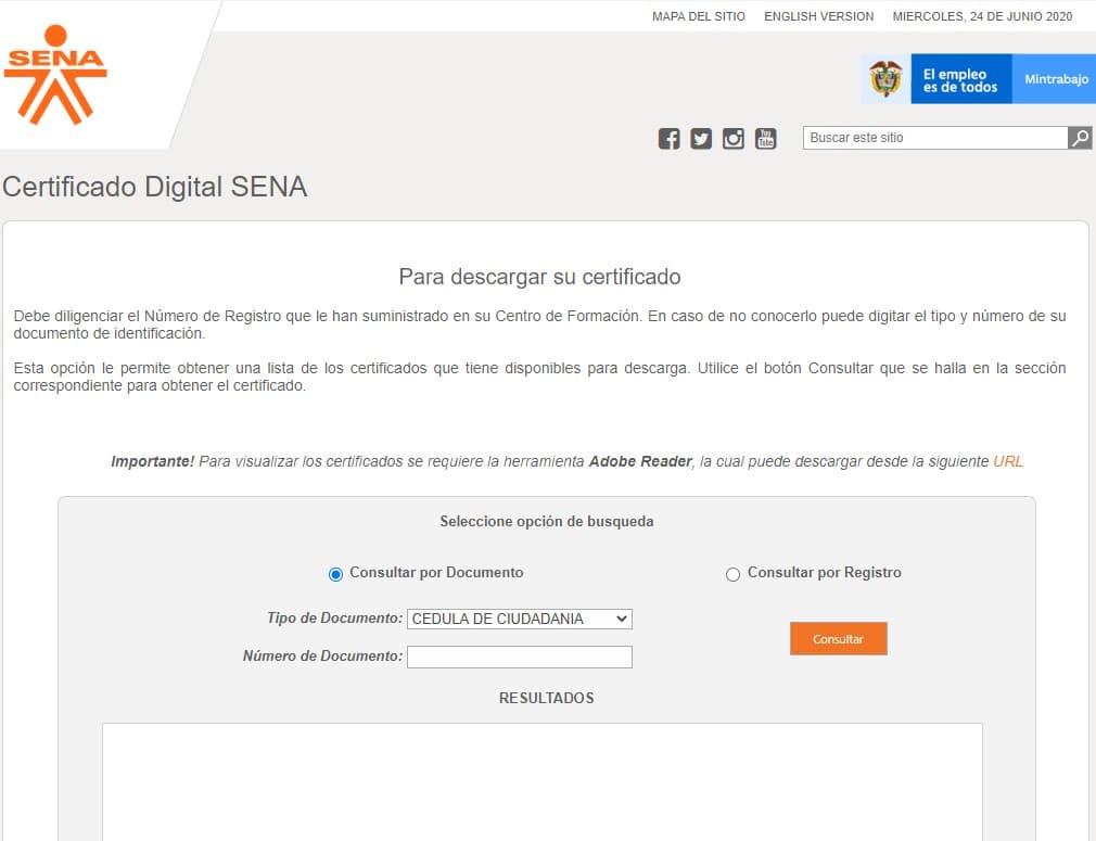 portal web Sena